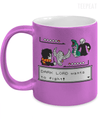 Gearbubble Coffee Mug 11oz Metallic Mug / Purple Dark Lord Wants To Fight Metallic Mug