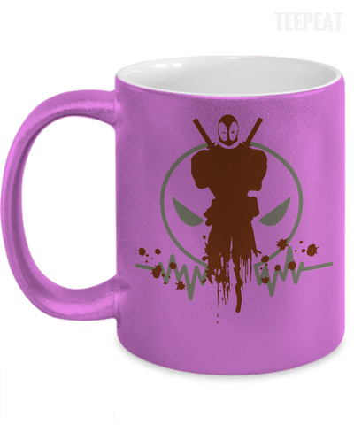 Gearbubble Coffee Mug 11oz Metallic Mug / Purple Deadpool Pulse Metallic Mug
