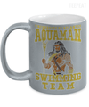 Gearbubble Coffee Mug 11oz Metallic Mug / Silver Aquaman Swimming Team Metallic Mug