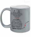 Gearbubble Coffee Mug 11oz Metallic Mug / Silver Cat Typography Metallic Mug