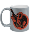 Gearbubble Coffee Mug 11oz Metallic Mug / Silver Deadpool Boy Metallic Mug