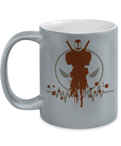 Gearbubble Coffee Mug 11oz Metallic Mug / Silver Deadpool Pulse Metallic Mug