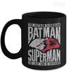 Gearbubble Coffee Mug 11oz Mug / Black Batman and Superman Mug
