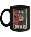 Gearbubble Coffee Mug 11oz Mug / Black Captain War Black Mug
