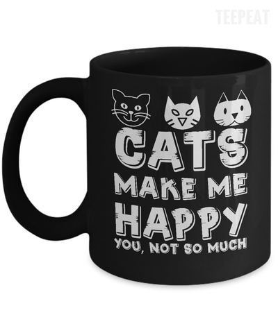 Gearbubble Coffee Mug 11oz Mug / Black Cats Make Me Happy Mug