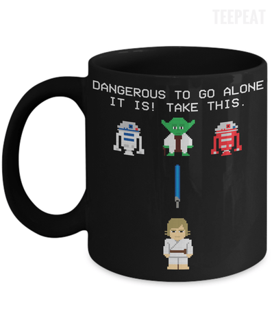 Gearbubble Coffee Mug 11oz Mug / Black Dangerous to go Alone Mug