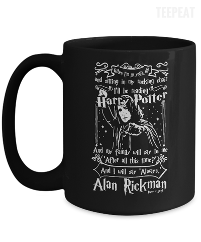 Gearbubble Coffee Mug 15oz Mug / Black Alan Rickman Mug