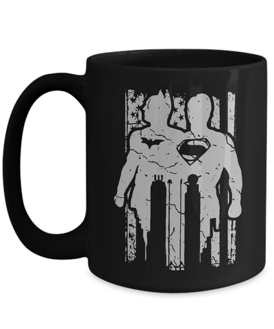 Gearbubble Coffee Mug 15oz Mug / Black Batman Vs Superman Mug