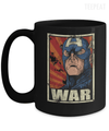 Gearbubble Coffee Mug 15oz Mug / Black Captain War Black Mug