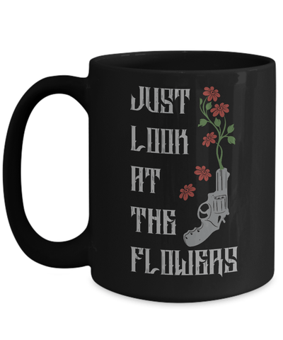 Gearbubble Coffee Mug 15oz Mug / Black Carol Flowers Mug