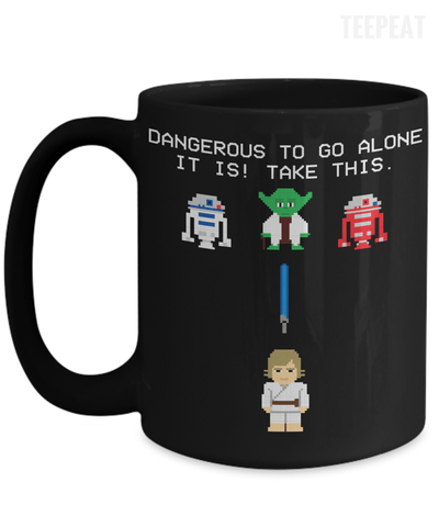 Gearbubble Coffee Mug 15oz Mug / Black Dangerous to go Alone Mug