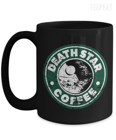 Gearbubble Coffee Mug 15oz Mug / Black Death Star Coffee Mug