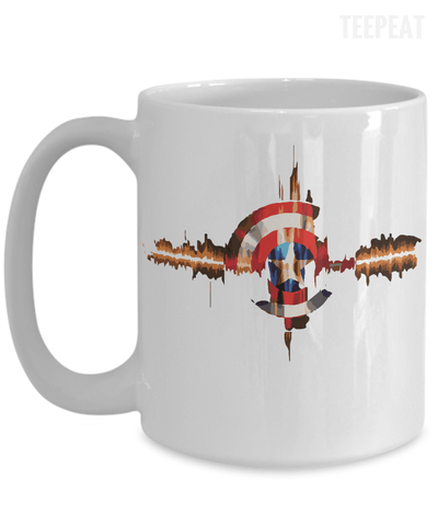 Gearbubble Coffee Mug 15oz Mug / White Captain Pulse Mug