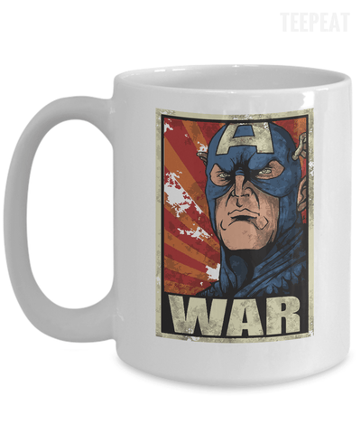 Gearbubble Coffee Mug 15oz Mug / White Captain War White Mug