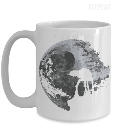 Gearbubble Coffee Mug 15oz Mug / White Death Star Mug