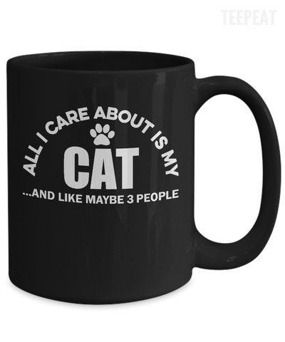 Gearbubble Coffee Mug All I Care About Is My Cat Mug