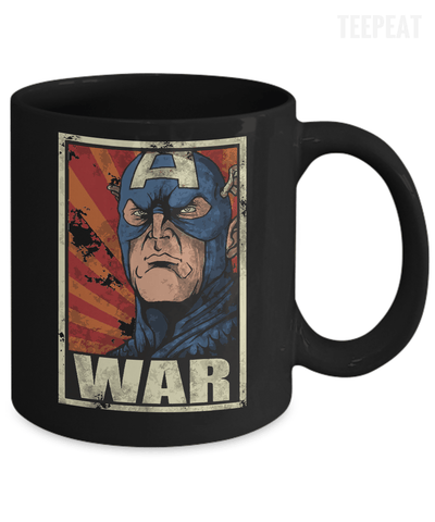 Gearbubble Coffee Mug Captain War Black Mug