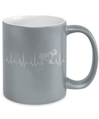 Gearbubble Coffee Mug Cardiogram Dog Metallic Mug