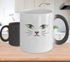 Gearbubble Coffee Mug Cat Face Color Changing Mug