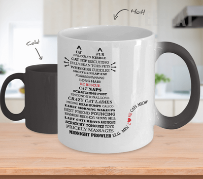 Gearbubble Coffee Mug Cat Typography Color Changing Mug