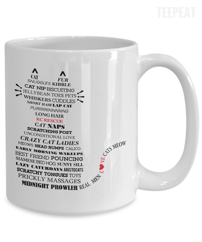 Gearbubble Coffee Mug Cat Typography Mug