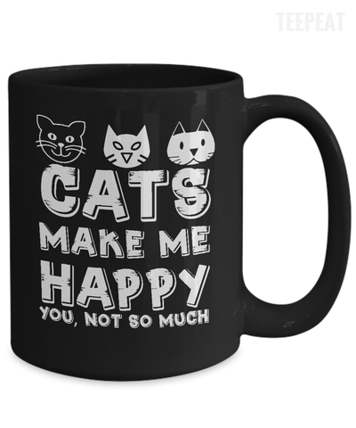 Gearbubble Coffee Mug Cats Make Me Happy Mug