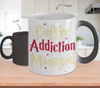 Gearbubble Coffee Mug Coffee Addiction Managed Color Changing Mug