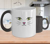 Gearbubble Coffee Mug Color Changing Mug / White Cat Face Color Changing Mug