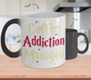 Gearbubble Coffee Mug Color Changing Mug / White Coffee Addiction Managed Color Changing Mug