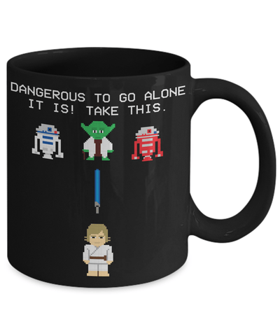 Gearbubble Coffee Mug Dangerous to go Alone Mug