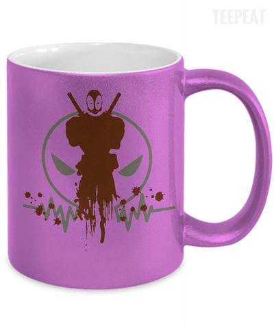 Gearbubble Coffee Mug Deadpool Pulse Metallic Mug