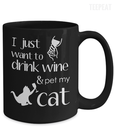 Gearbubble Coffee Mug Drink Wine And Pet Cat Mug