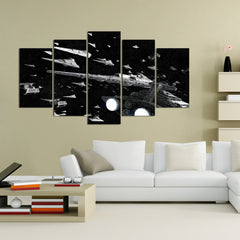 Imperial Fleet Painting - 5 Piece Canvas