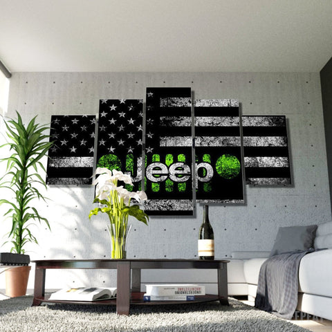 Jeep Painting - 5 Piece Canvas-Canvas-TEEPEAT