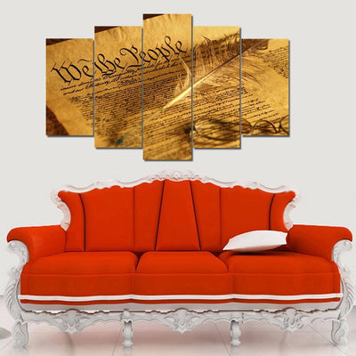 "KINGSTONEART Canvas ""We The People"" - 5 Piece Canvas Painting"