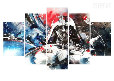 Painting Vader - 5 Piece Canvas-Canvas-TEEPEAT