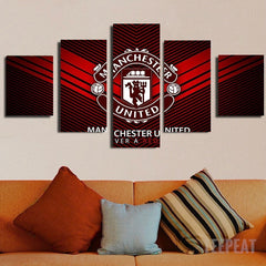 Manchester United Logo - 5 Piece Canvas Painting