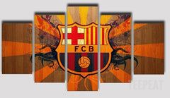 Limited Edition Barcelona Fan - 5 Piece Canvas Painting