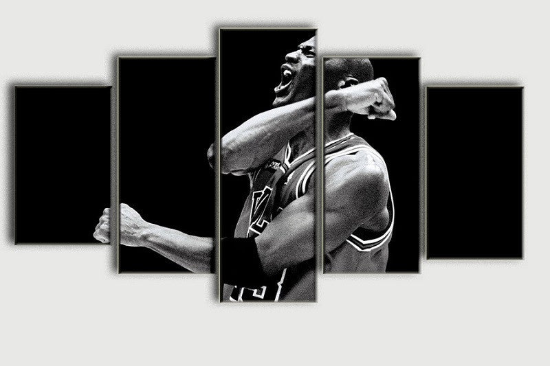 Limited Edition Champion - Michael Jordan - 5 Piece Canvas Painting-Canvas-TEEPEAT