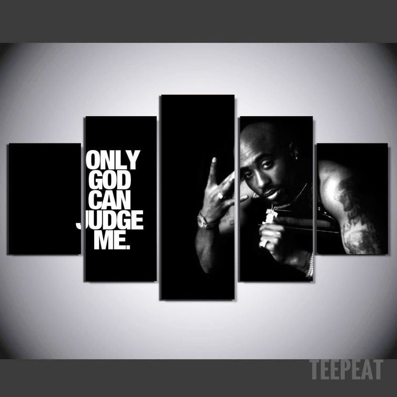 Limited Edition - Tupac - ONLY GOD CAN JUDGE ME-Canvas-TEEPEAT