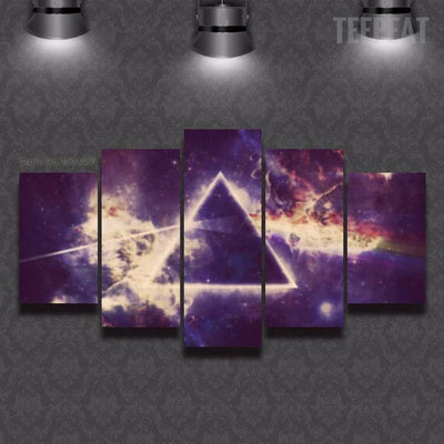 Pink Floyd V4 Painting - 5 Piece Canvas-Canvas-TEEPEAT