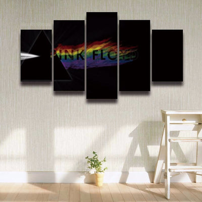 Pink Floyd Painting - 5 Piece Canvas-Canvas-TEEPEAT