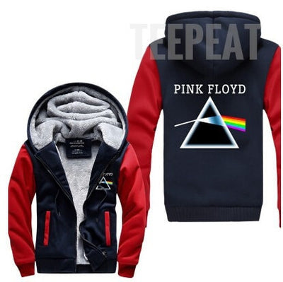 Pink Floyd Fleece Hoodie-Jacket-TEEPEAT