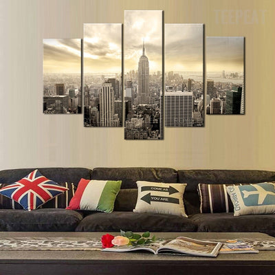 New York Empire State Building - 5 Piece Canvas-Canvas-TEEPEAT