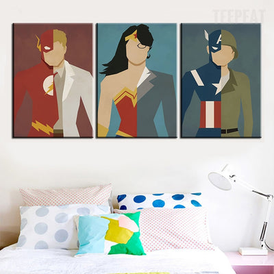 Marvel Heroes Painting-Canvas-TEEPEAT