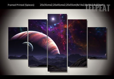 Marvelous Universe Painting - 5 Piece Canvas-Canvas-TEEPEAT