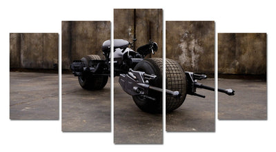 The Batcycle Painting - 5 Piece Canvas-Canvas-TEEPEAT