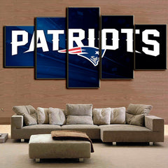 New England Patriots - 5 Piece Canvas Painting