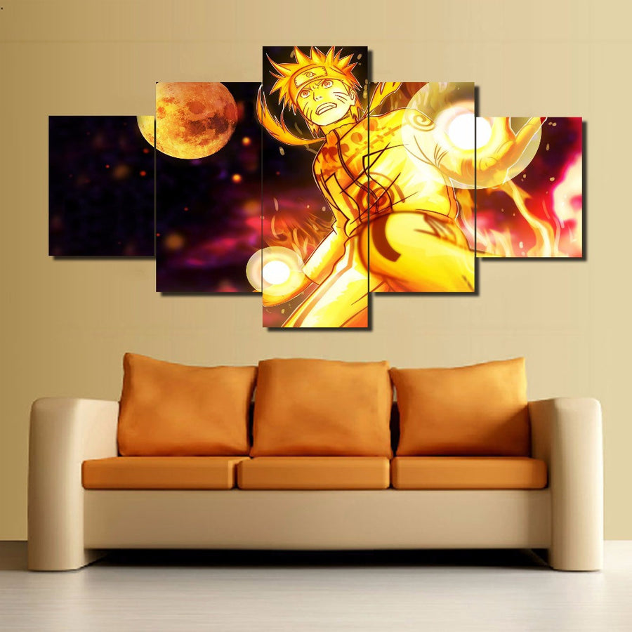 Naruto Anime Painting - 5 Piece Canvas-Canvas-TEEPEAT