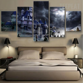 Hogwarts Castle Painting - 5 Piece Canvas-Canvas-TEEPEAT